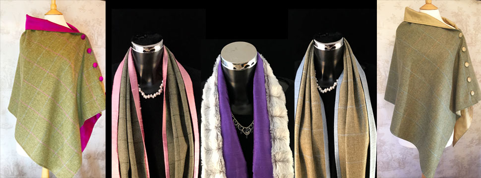 Exquisite Tweed & Silk Capes and Scarves